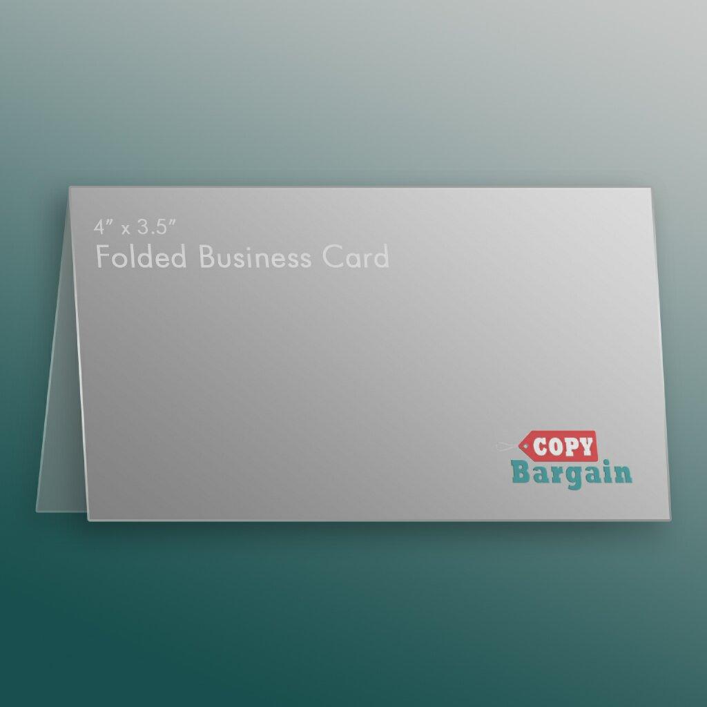 folded business card printing copy bargain