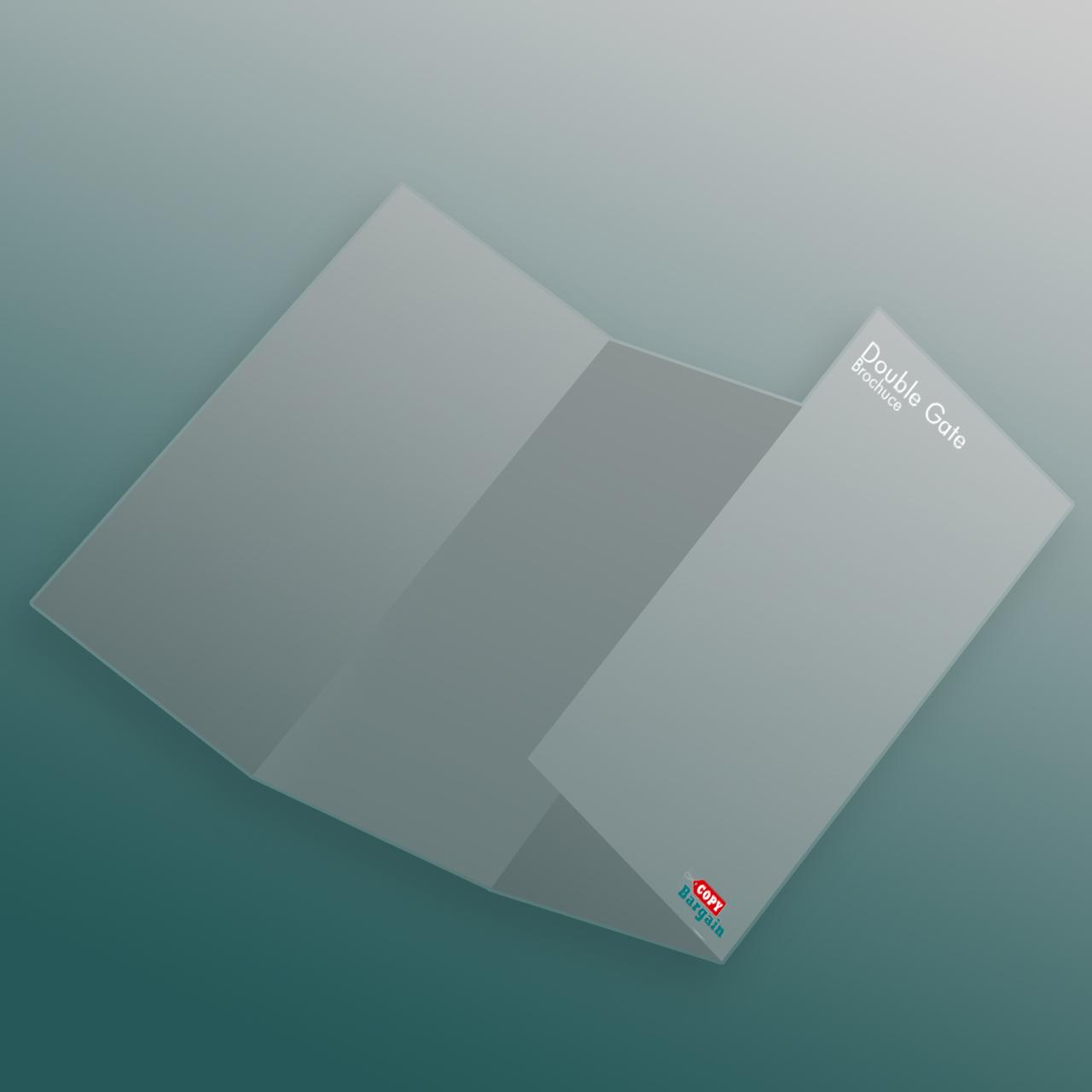 Double Gatefold Brochure Printing