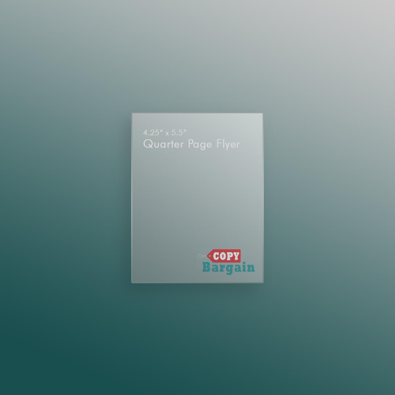 quarter page flyer printing copy bargain
