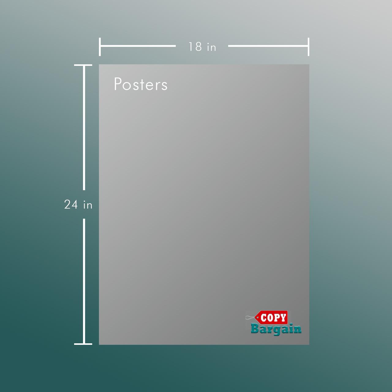 18 X 24 Poster Printing Copy Bargain